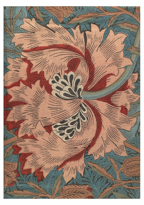 William Morris: Illustration from The Golden Legend Notecard