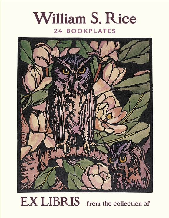 William S. Rice: Owls and Magnolias Bookplates