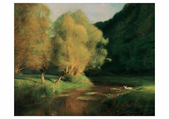 Dagnan-Bouveret: Willows by a Stream Notecard