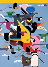 """Charley Harper: Wings of the World 5 x 7"""" Notepad"""