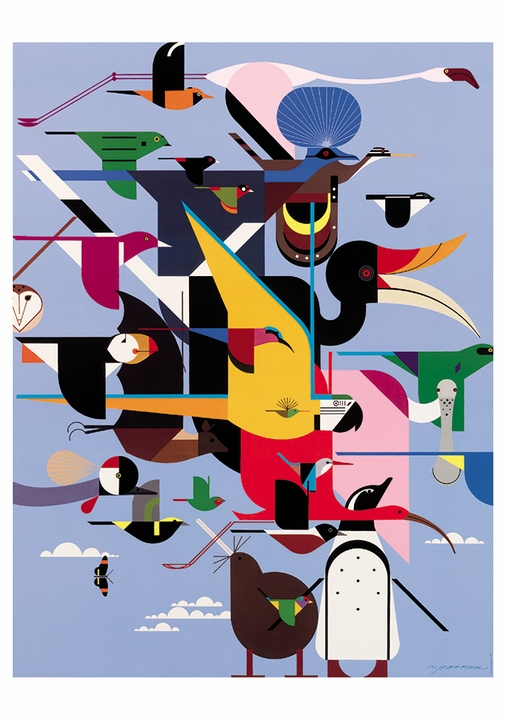 Charley Harper: Wings of the World Notecard