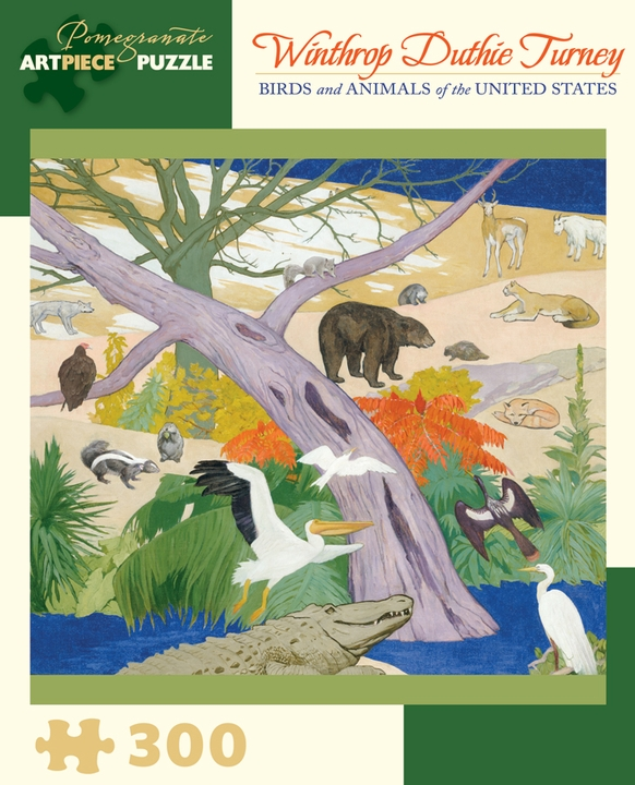 Winthrop Duthie Turney: Birds and Animals of the United States 300-piece Jigsaw Puzzle
