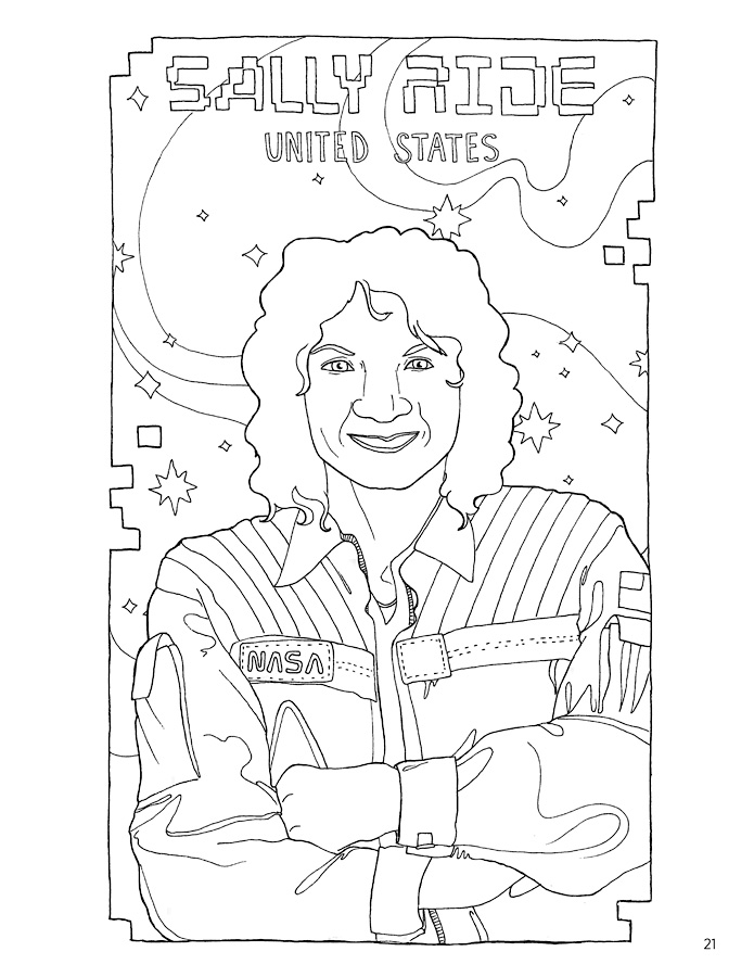 Women In Science Astronauts Astronomers Coloring Book