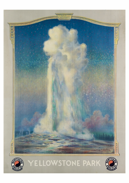 Edward Vincent Brewer: Yellowstone Park Postcard