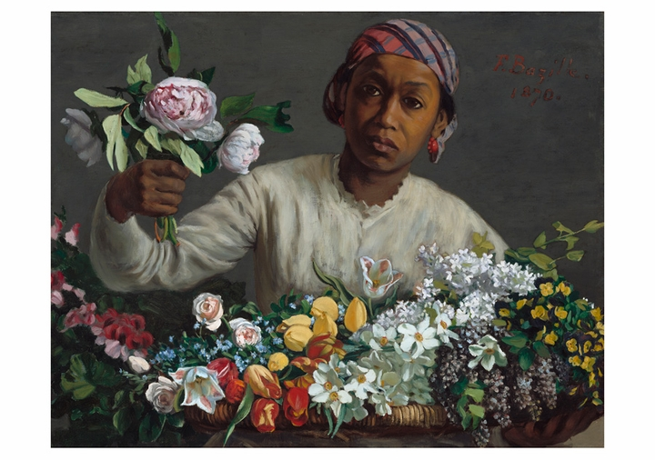 Frédéric Bazille: Young Woman with Peonies Notecard