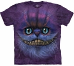 3D Big Face Cheshire Cat T-shirt, Youth
