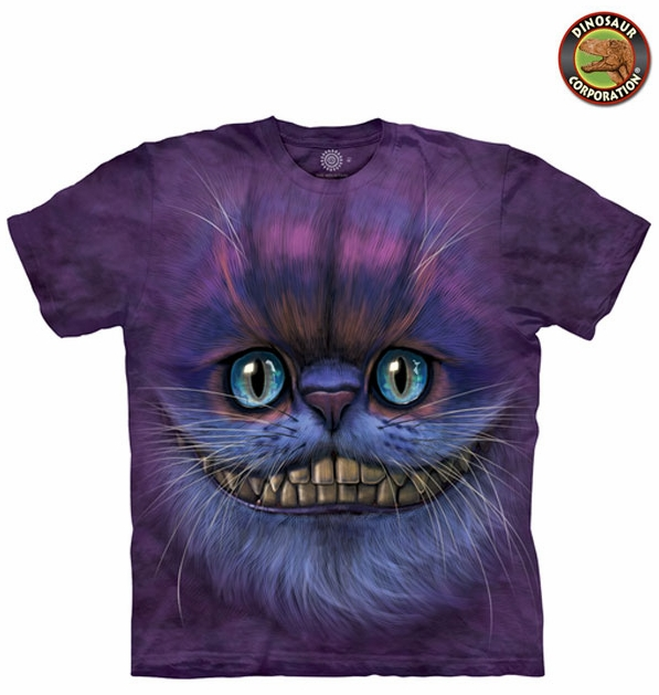 2abe9b10 The Mountain 3D Big Face Cheshire Cat T-shirt On Sale | Dinosaur ...