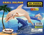 3D Dolphin Woodcraft Puzzle Skeleton Kit 12 Kits