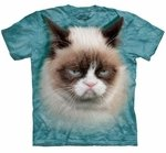 3D Grumpy Cat Adult T-shirt