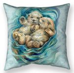 A Love Like No Otter Throw Pillow