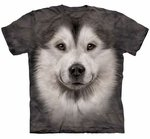 Alaskan Malamute Face Adult T-shirt