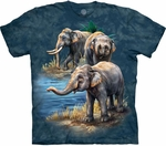 Asian Elephant Collage Youth & Adult T-shirt