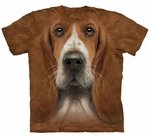 Basset Hound Head Adult T-shirt