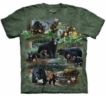 Bear Collage Adult T-shirt