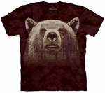 Bear Face Forest Adult T-shirt