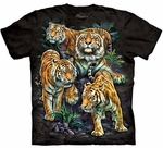 Bengal Tiger Collage Adult T-shirt