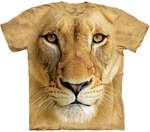 Big Face Lioness Youth & Adult T-shirt