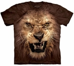 Big Face Roaring Lion Youth & Adult T-shirt