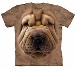 Big Face Shar Pei Puppy Adult T-shirt