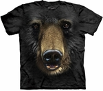 Black Bear Face Youth & Adult T-shirt