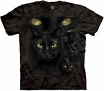 Black Cat Moon Eyes Adult T-shirt