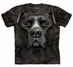 Black Pitbull Head Adult T-shirt