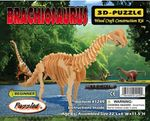 "Large Brachiosaurus Woodcraft Bones Puzzle Dinosaur Skeleton Kit, 22"", 6 Sets"