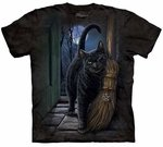 Cat a Brush with Magic Adult T-shirt