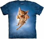 Cat Pounce Peeps Adult T-shirt