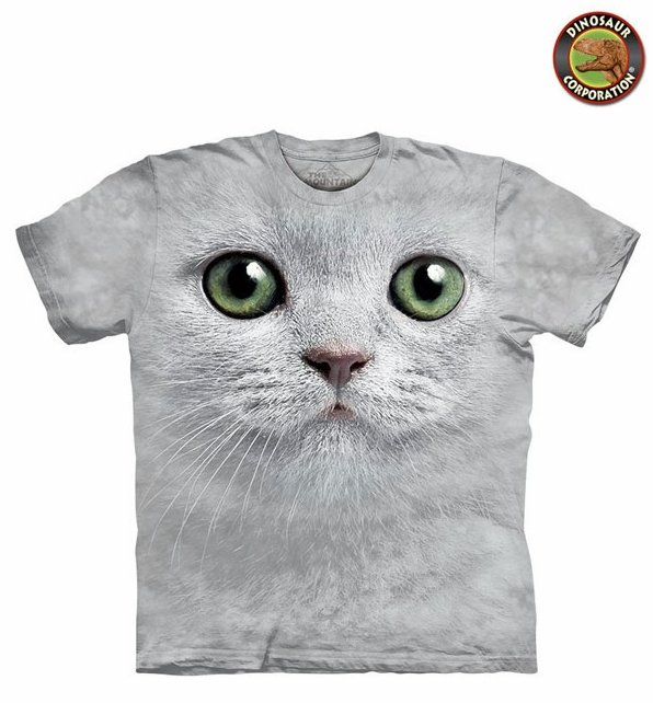 db15d4c6 The Mountain Cat Green Eyes Face T-shirt On Sale