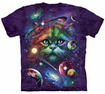 Cosmic Cat Adult T-shirt