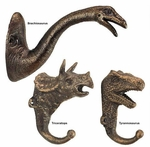 Decorative Dinosaur Foundry Cast Iron Wall Hook Collection