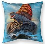 Dimetrodon Throw Pillow