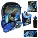 Jurassic World Backpack, Lunchbox, Cinch Sack, Pencil Case & Water Bottle Set