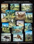 Dinosaur Exhibit, Cretaceous and Jurassic Dinosaurs 10 Oil Paintings, 90 Days