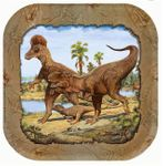 Wholesale Hunting With Dinosaurs Deluxe T-REX Exclusive Dinosaur Lunch Plates, 9 inch, 96 pcs