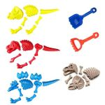 Dinosaur Skeletons Fossil Sand Molds Kids Beach Toy Set, 23 pc