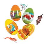 Large Dinosaur Eggs with Dino Toys, 3""