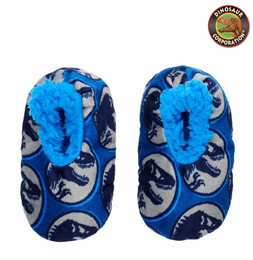 469adda09317 Toddler Boy s Jurassic World T-rex Dinosaur Slipper Socks