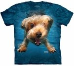 Dog Underwater Brady T-shirt