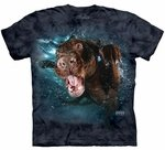 Dog Underwater Hodge Adult T-shirt