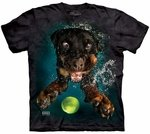 Dog Underwater Mylo Adult T-shirt
