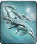 Dolphin Dive Fleece Blanket