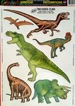 "Jurassic World Double Sided Dinosaur Decals 4""-12"""