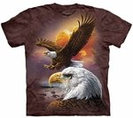 Eagle & Clouds Adult T-shirt