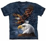 Eagle Flag Collage Adult T-shirt