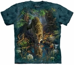 Enchanted Wolf Pool Adult T-shirt