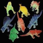 "Glowing Dinosaur Toys Plastic Figures, 5"", 36 pcs"