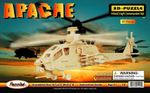 3D Apache Helicopter 3D Woodcraft Puzzle 6 Kits