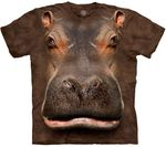 Hippo Head Adult T-shirt